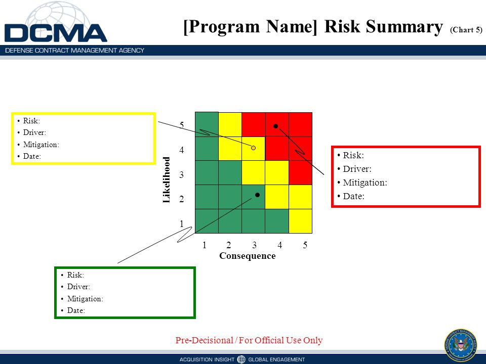 [Program Name] Risk Summary (Chart 5)